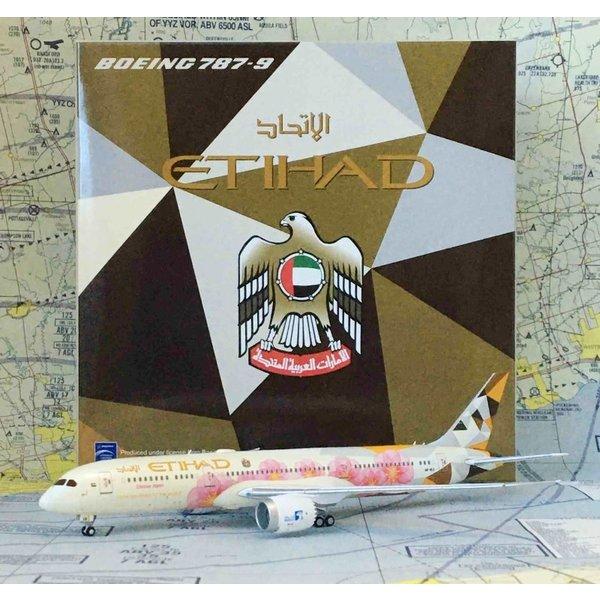 JC Wings B787-9 Etihad Choose Japan A6-BLK 1:400 flaps