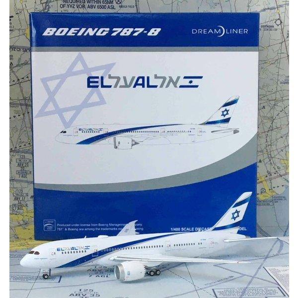 JC Wings B787-8 Dreamliner El Al 4X-ERA 1:400 flaps down