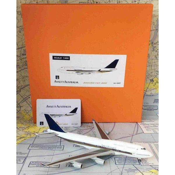 JC Wings B747-400 Ansett Australia Singapore Cheatline 9V-SMT 1:400
