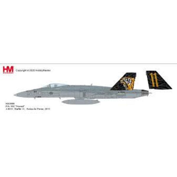Hobby Master FA18C Hornet Staffel 11 Swiss AF Tiger J5011 1:72 +Preorder+