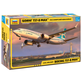 Zvesda B737-8 MAX Boeing  House livery 1:144 scale kit