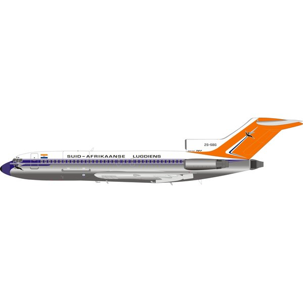 InFlight B727-100 South African old livery ZS-SBG 1:200