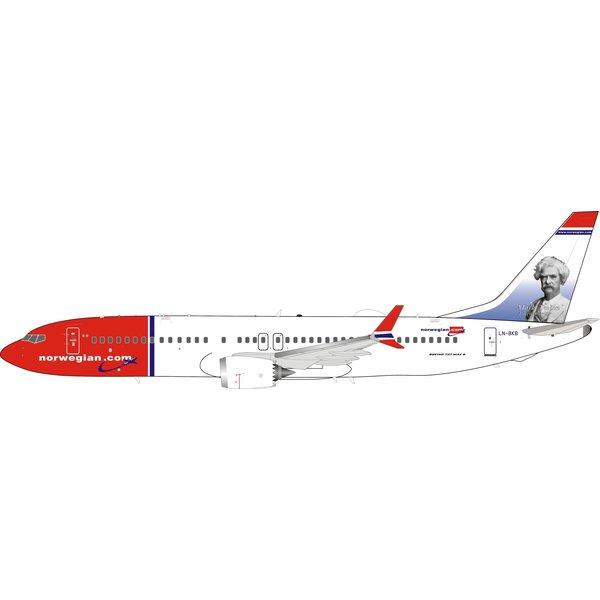 InFlight B737-8 MAX Norwegian Air Shuttle LN-BKB Mark Twain 1:200 +Preorder+