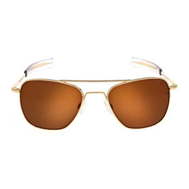 Randolph Engineering Aviator Gold 23k Bayonet Glass Tan Polarized AR 55