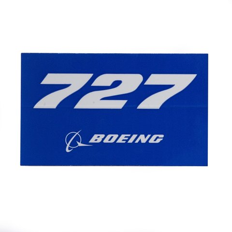 727 Blue Rectangle Sticker