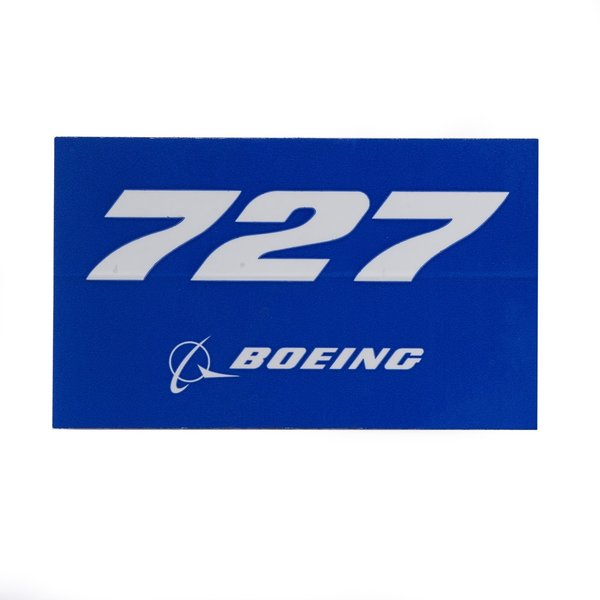 Boeing Store 727 Blue Rectangle Sticker