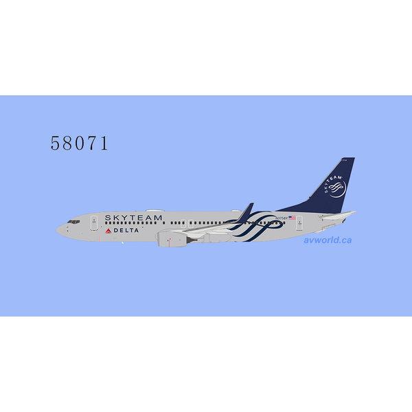 NG Models B737-800W Delta Air Lines Skyteam N3758Y 1:400