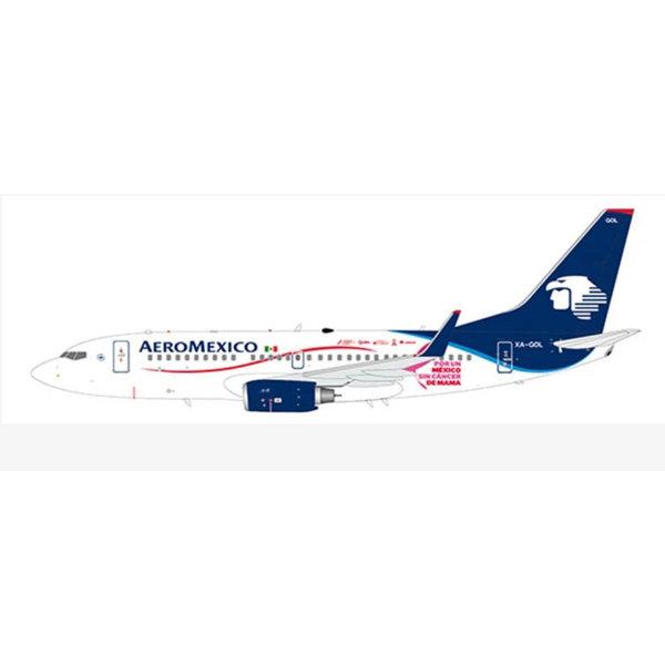 JC Wings B737-700W Aeromexico Mexico Sin Cancer Mama 1:200