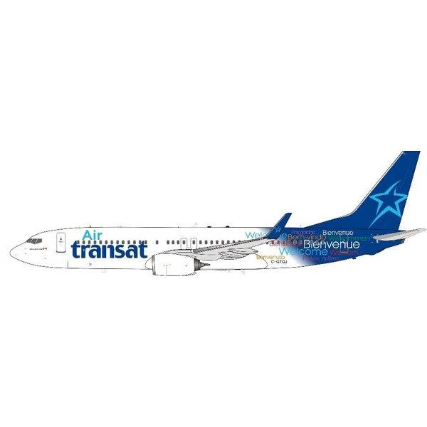 InFlight B737-800W Air Transat Welcome c/s C-GTQJ 1:200 +Preorder+