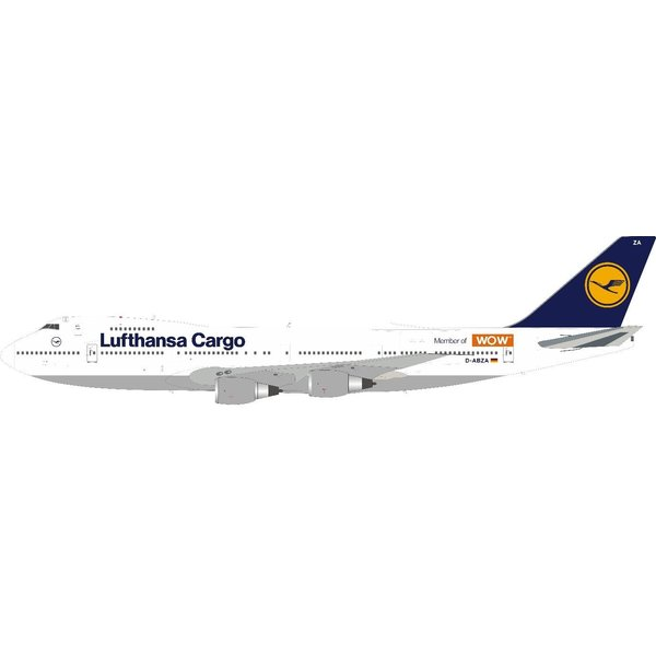 JFOX B747-200SF Lufthansa Cargo WOW D-ABZA 1:200