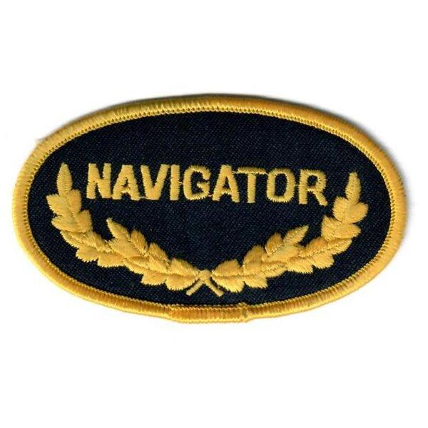 avworld.ca Patch Navigator Oval Black Gold