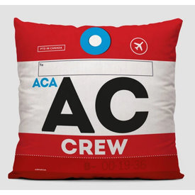 Airportag AC Crew Throw Pillow