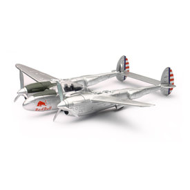 NewRay P38 Lightning Red Bull Flying Bulls 1:48 with stand