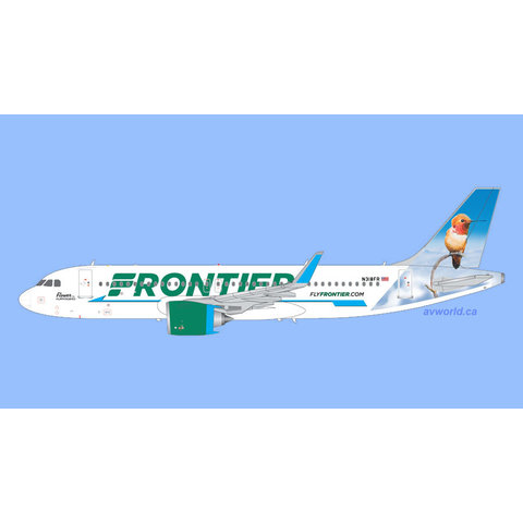 A320neo Frontier Flower the Hummingbird N318FR 1:200