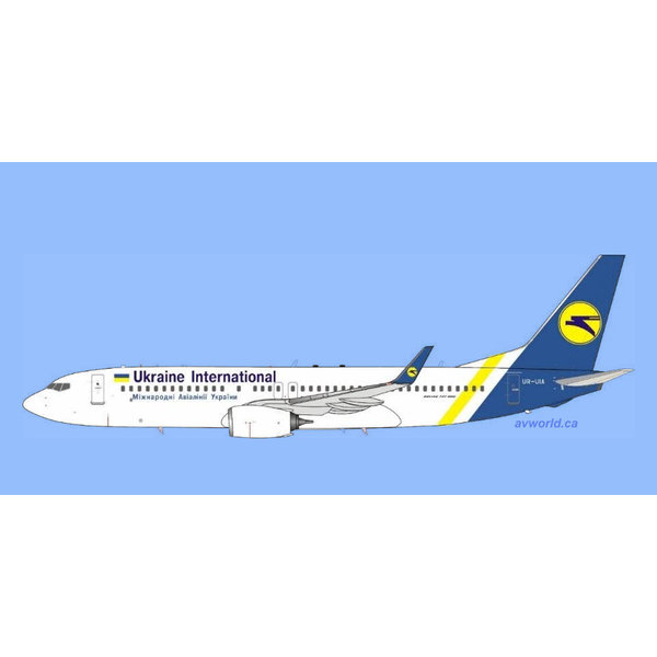 InFlight B737-800W Ukraine International UIA UR-UIA 1:200 +Preorder+