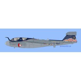 Hobby Master EA6B Prowler VAQ140 CVW7 AG-500 Stars & Bars 1:72