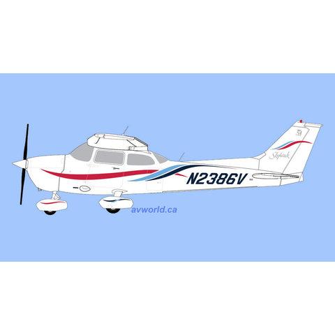 Cessna 172R Skyhawk N2386V 1:72