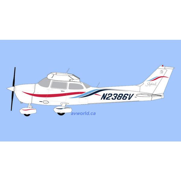 Gemini Jets Cessna 172R Skyhawk N2386V 1:72