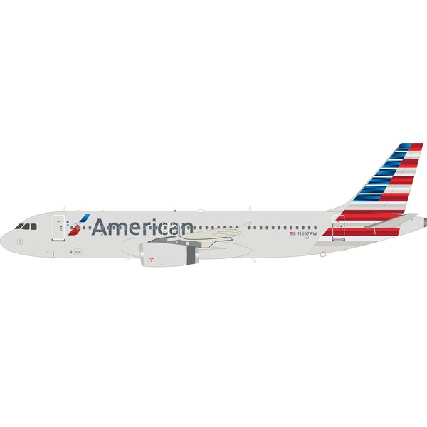 InFlight A320 American Airlines 2013 livery N667AW 1:200 +preorder+
