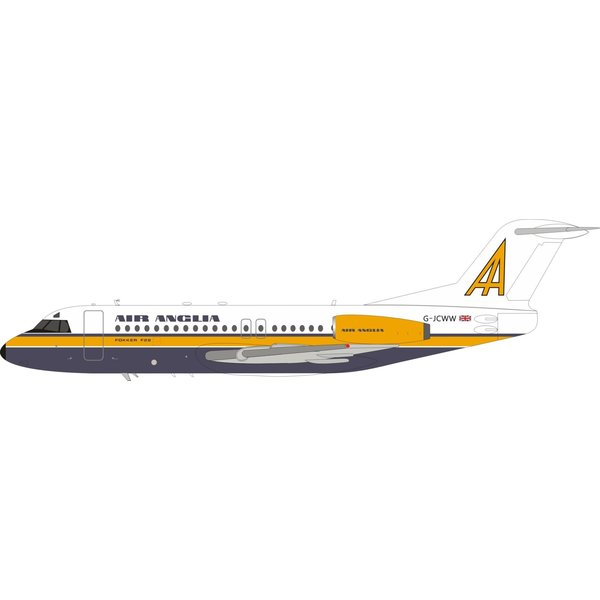 InFlight F28-4000 Fellowship Air Anglia G-JCWW 1:200 +Preorder+