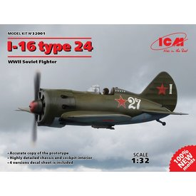 ICM Model Kits POLIKARPOV I16 TYPE 24 1:32