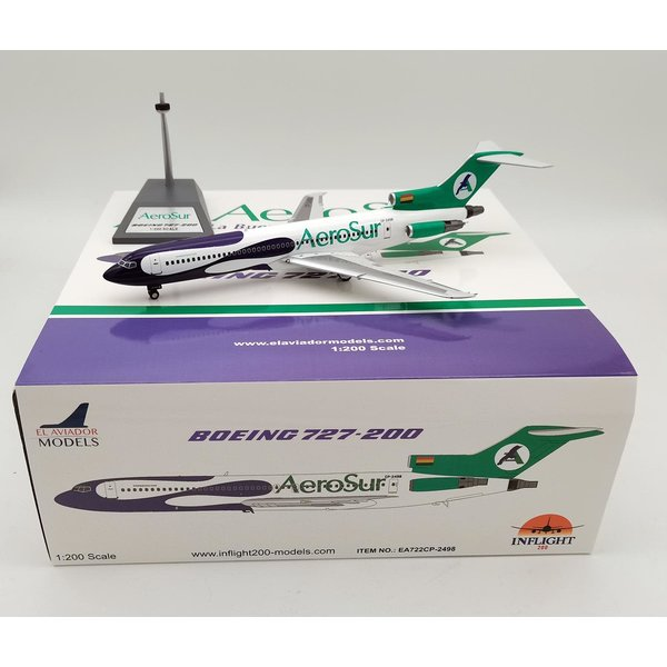 InFlight B727-200 AeroSur CP-2498 1:200 with stand +Preorder+