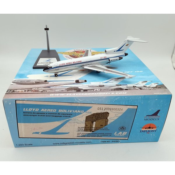 InFlight B727-100 LAB CP-861 1:200 with stand +preorder+