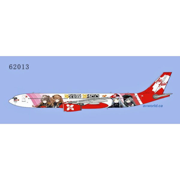 NG Models A330-300 Air Asia X Girls Frontline 9M-XXB 1:400 +Preorder+