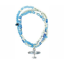 Triple Cord Airplane Bracelet