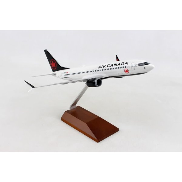 SkyMarks B737 MAX8 Air Canada 2017 Livery 1:130 with wooden stand