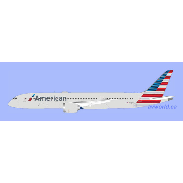 InFlight B787-9 Dreamliner American 2013 c/s N839AA 1:200 with stand