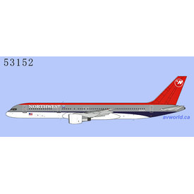 NG Models B757-200 Northwest Airlines bowling shoe N549US 1:400