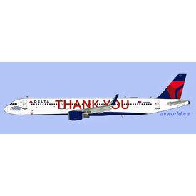 NG Models A321S Delta 2007 THANK YOU N391DN 1:400 +Preorder+