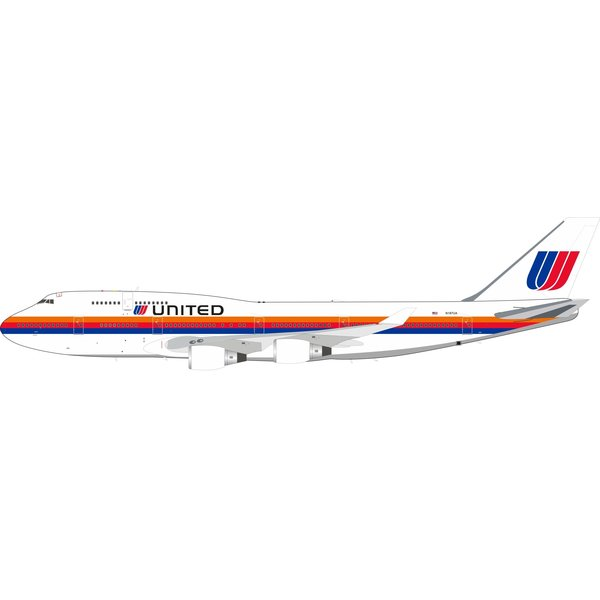 InFlight B747-400 United Airlines Saul Bass N187UA 1:200 +Preorder+