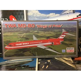 "Minicraft Model Kits MD80 TWA ""Wings of Pride"" [Reverse colours] 1:144"