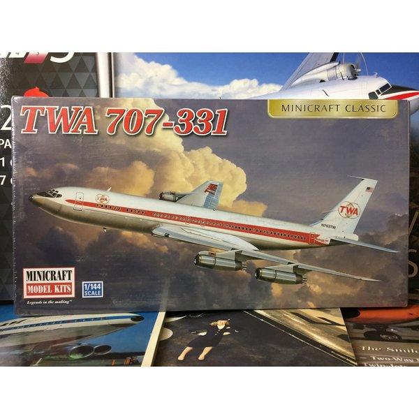 Minicraft Model Kits B707-331 TWA 1:144