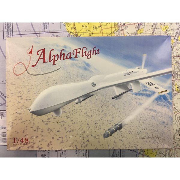 ALPHA FLIGHT RQ1 PREDATOR 1:48 Resin kit **o/p**
