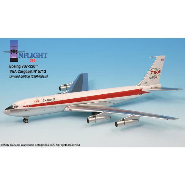 InFlight B707-300F TWA CargoJet Twin Globe livery 1:200