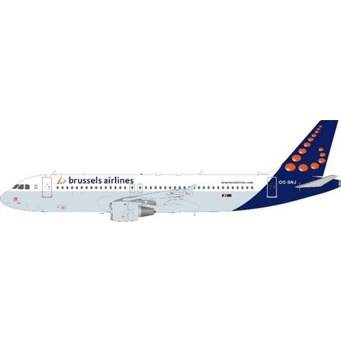 A320 Brussels Airlines OO-SNJ 1:200 with stand