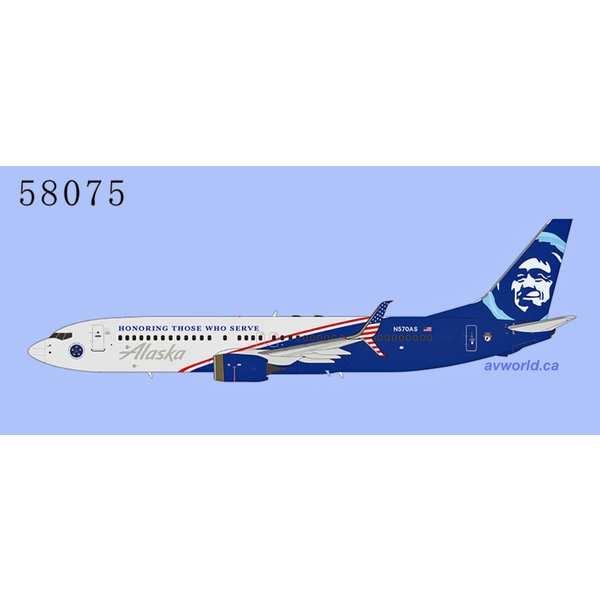 NG Models B737-800S Alaska Honoring Those N570AS 1:400