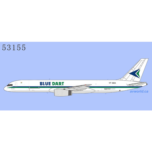 NG Models B757-200PCF Blue Dart Aviation VT-BDA 1:400
