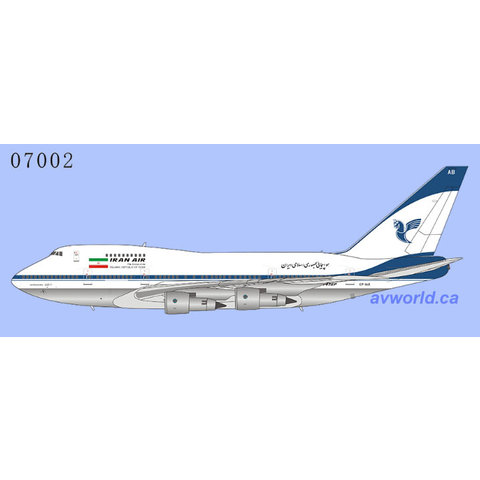 B747SP Iran Air final livery EP-IAB 1:400 (redo 2021)