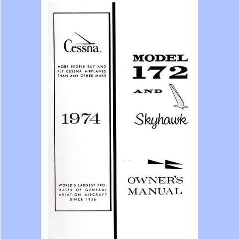 Cessna Owners Manual C172m '74