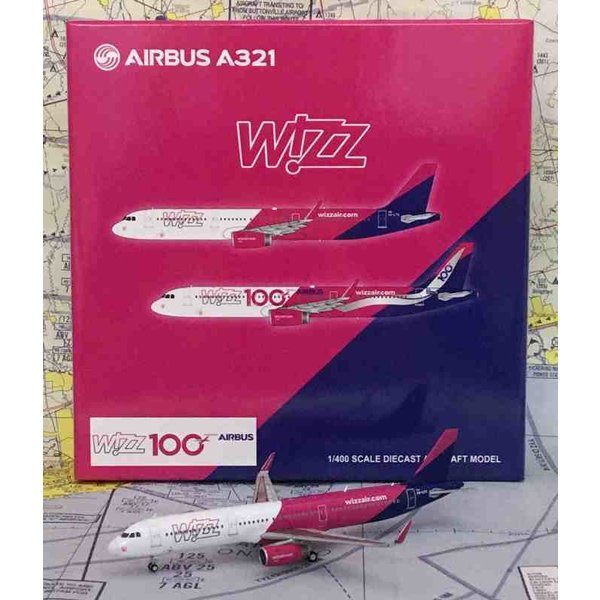 JC Wings A321S Wizz Air HA-LTA 1:400 with antennae