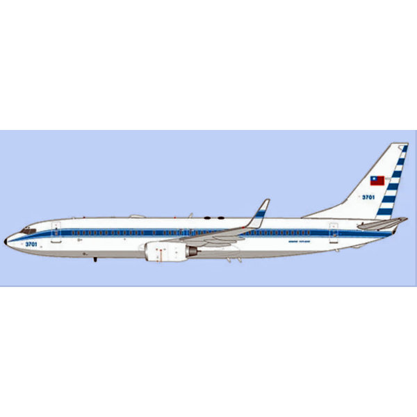 JC Wings B737-800W Taiwan Air Force RoCAF 3701 1:200 +Preorder+