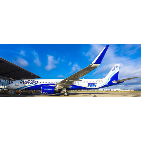 JC Wings A321neo Indigo Airlines 1000th neo VT-IUH 1:400 +Preorder+