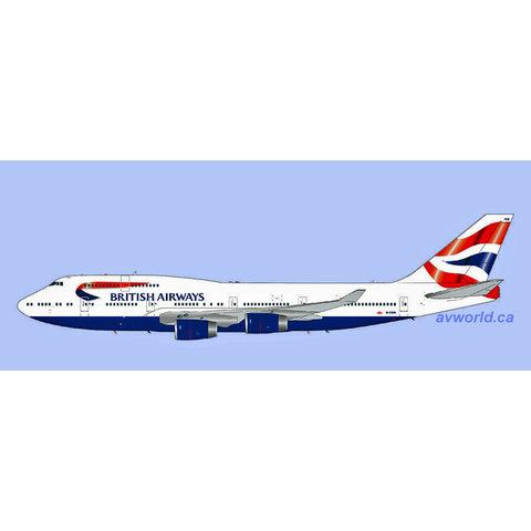 B747-400 British Airways Union Jack c/s G-CIVN 1:200