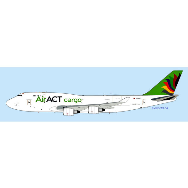 InFlight B747-400BDSF Air ACT Cargo TC-ACF 1:200