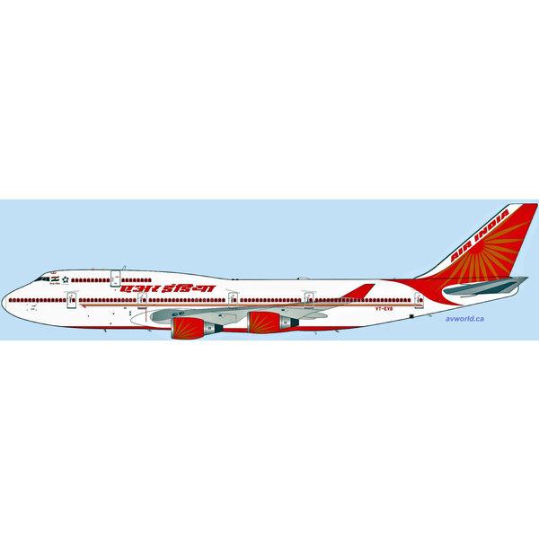 InFlight B747-400 Air India 2007 livery VT-EVB 1:200