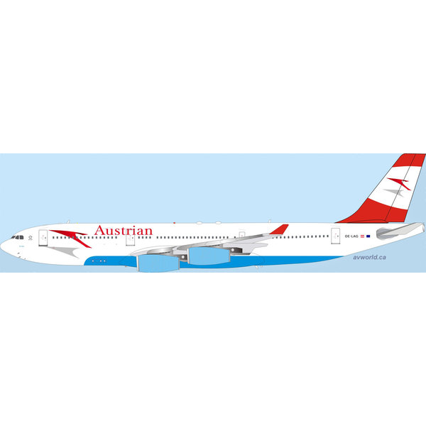 InFlight A340-200 Austrian 2003 livery OE-LAG 1:200